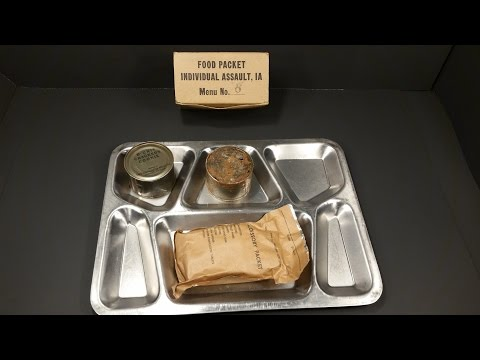 1951 Food Packet Assault Oldest Chocolate Chip Cookie Eaten & Camel Cigarette Smoked MRE C Ration