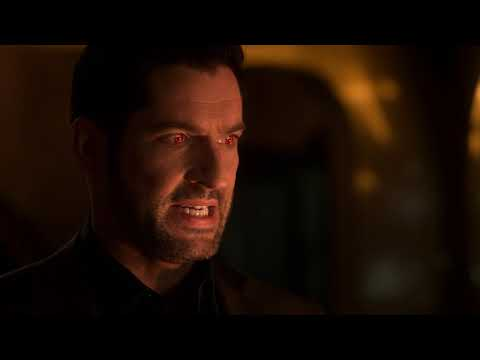 Lucifer S05e06 First Devil Face Appearance In Season 5 Youtube