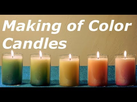 How To Make Colored Candles