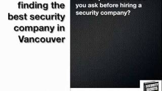 Security Guard Vancouver