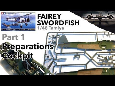 Fairey Swordfish 1/48 Tamiya - Part 1 - Preparation, Cockpit - Full Scale Model Kit Build