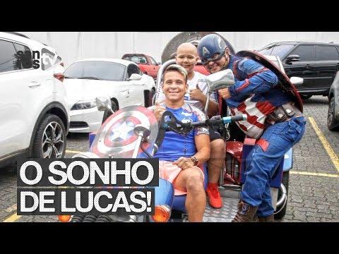 SANTOS FC REALIZA O SONHO DE LUCAS