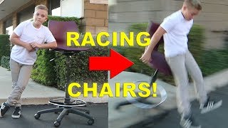 RACING ROLLER CHAIRS CHALLENGE!