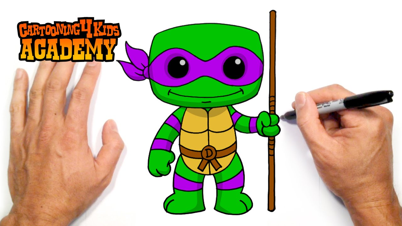 How to Draw Donatello | TMNT (Beginners Art Tutorial ...