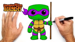 How to Draw Donatello (TMNT)- Art for Beginners