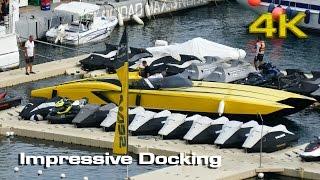 Impressive Docking Lamborghini Catamaran [4K]