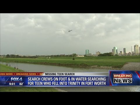 Search for missing teen in Trinity River