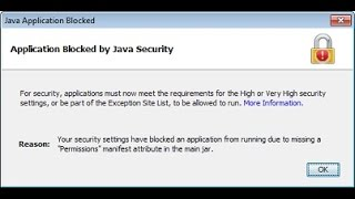 Java 65 Fix application blocked by security Chrome Explorer Firefox 2015