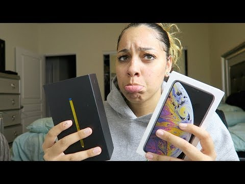 I Traded My iPhone XS Max For A Galaxy Note 9?! Galaxy Note 9 Unboxing | Perkyy