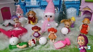 احذر من اللعب بالثلج - ميجا فيديو بلاي موبيل - عائلة عمر - جنه ورؤى - كرتون العاب اطفال - عالم بامبي