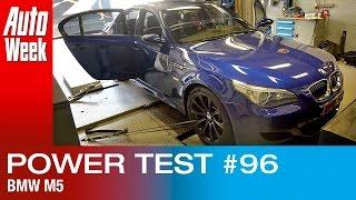 Op de rollenbank - BMW M5