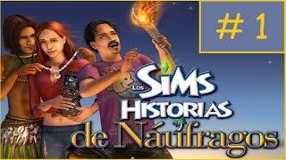 Gameplay Los Sims Historias de Naufragos: Cap. 1 - Aprendiendo a sobrevivir