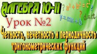 Четность, нечетность и периодичность тригонометрических функций. Алгебра 10-11 классы. 2  урок