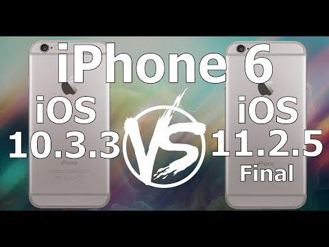 IPhone 6 : Retro Firmware Speed Test IOS 10.3.3 Vs IOS 11.2.5