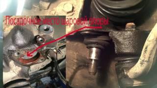 Как снять шаровую опору продольной тяги   с поворотного кулака BMW