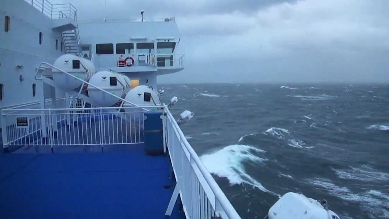 Newcastle Ijmuiden Storm At The North Sea 25 November 2012 - Youtube