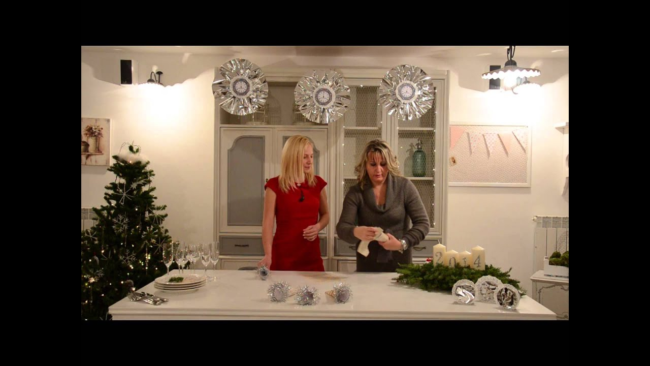 Decorare la tavola di Capodanno - YouTube