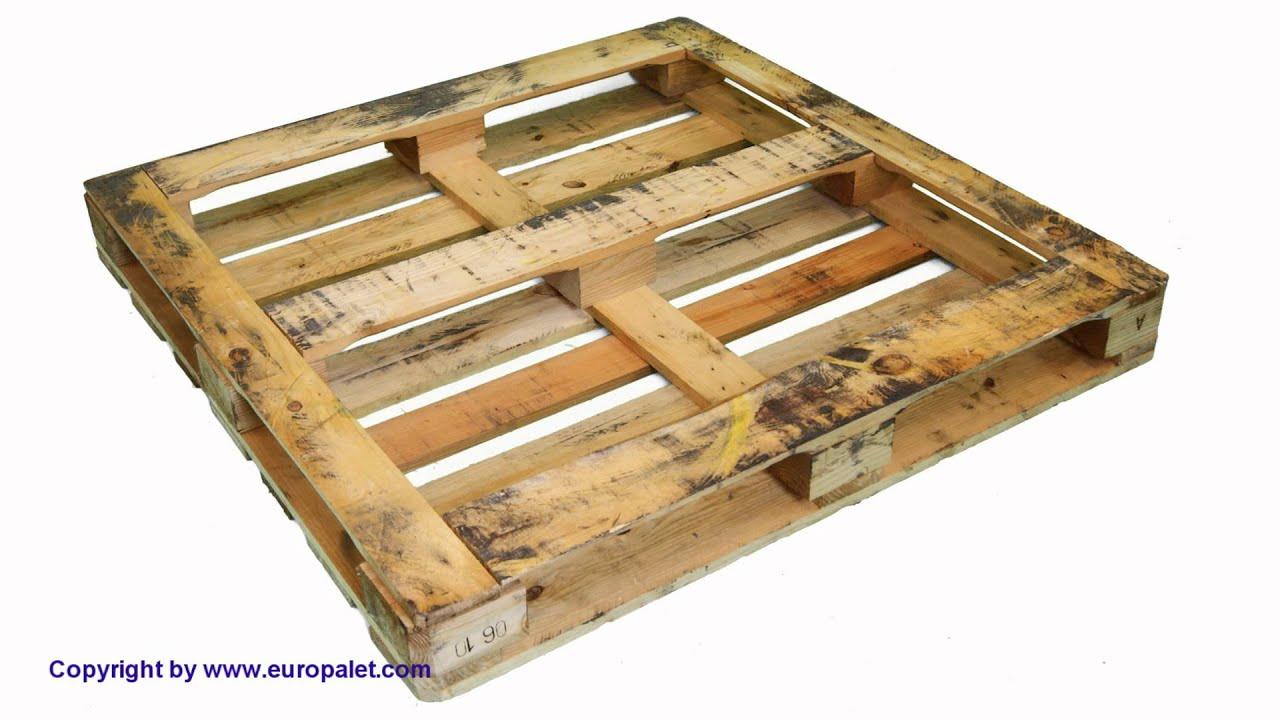 Tipos y medidas de palets youtube for Medidas de palets de madera