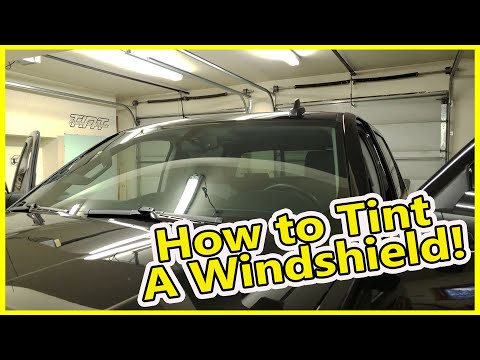 How to Windshield Tint From Start To Finish