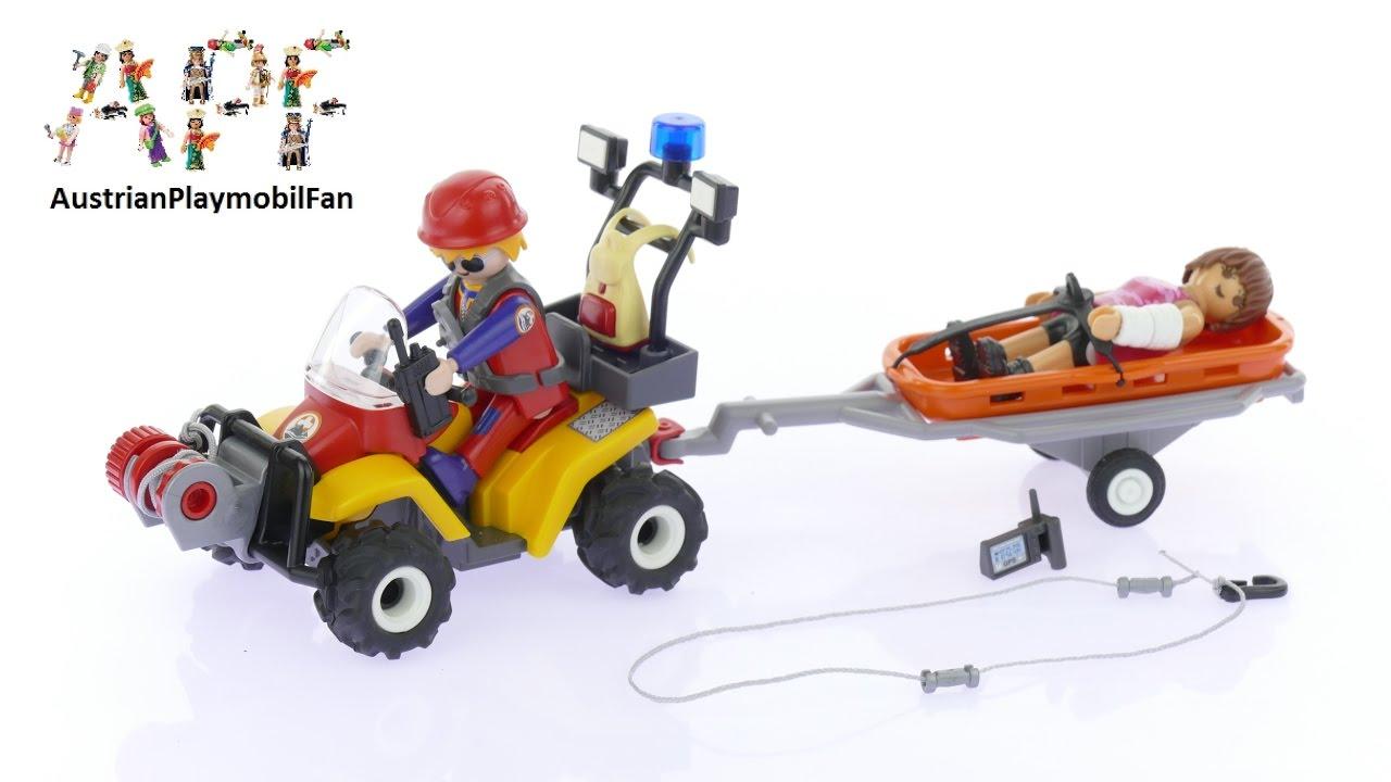 Playset JEEP del SOCCORSO ALPINO Playmobil Action 9128 ALPINE RESCUE RANGERS New