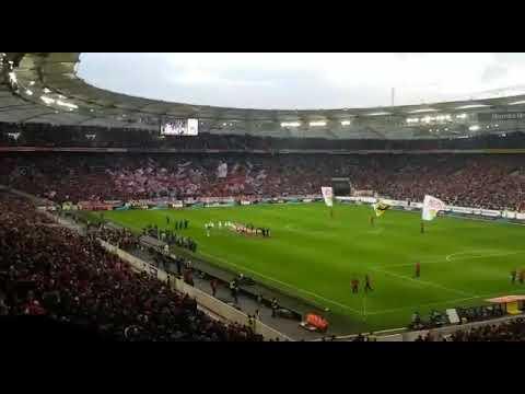 Vfb Stuttgart vs Fc Bayern München Einlauf am 16.12.17
