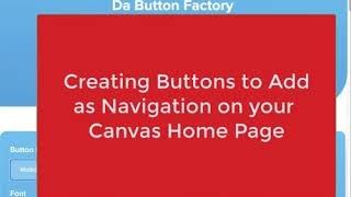 Create a Navigation Button for Your Canvas Page