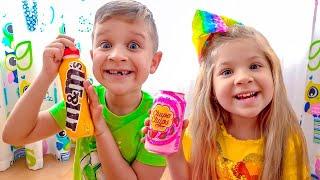 Diana and Roma taste Chocolate Milk Shake
