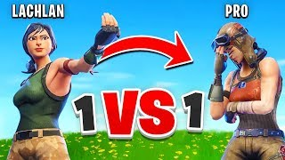 I Challenged a PRO Player to a 1v1 In Fortnite... thumbnail