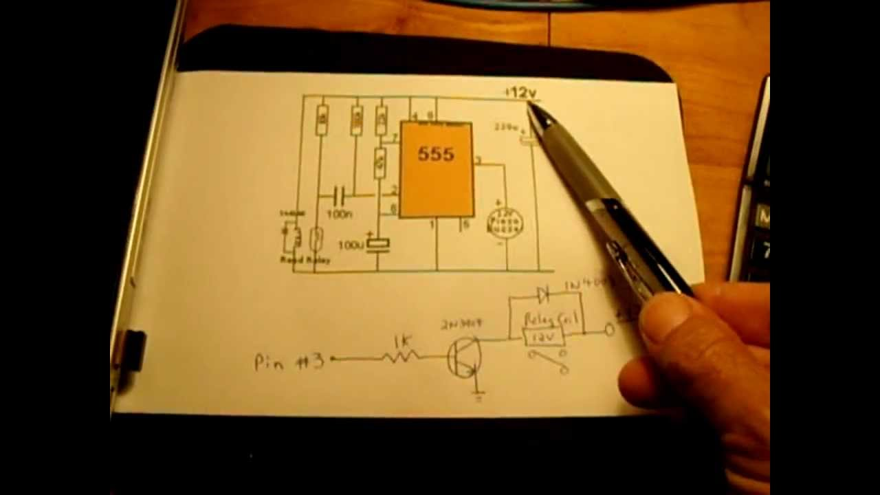 12v Timer Circuit Activated By Power On Youtube 555 One Shot Diagram