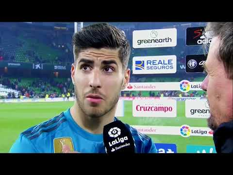 Marco Asensio post game interview