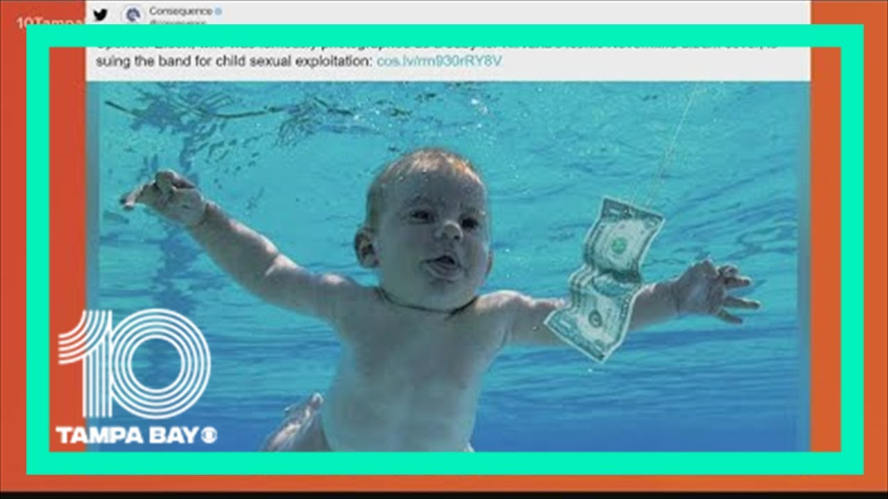 """Baby on Nirvana's """"Nevermind"""" album cover sues band for child porn"""