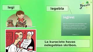 EBL   sufixo do Esperanto