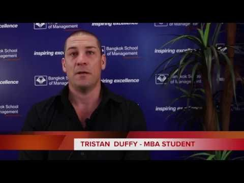 MBA Student Tristan Duffy shares his experience at Bangkok School of Management