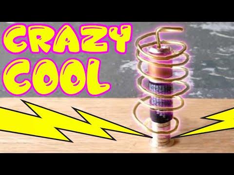 Kids fun electricity school science project - DIY Homopolar motor
