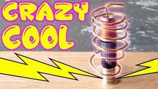 Kids cool and fun electrictity school science project - Homopolar motor