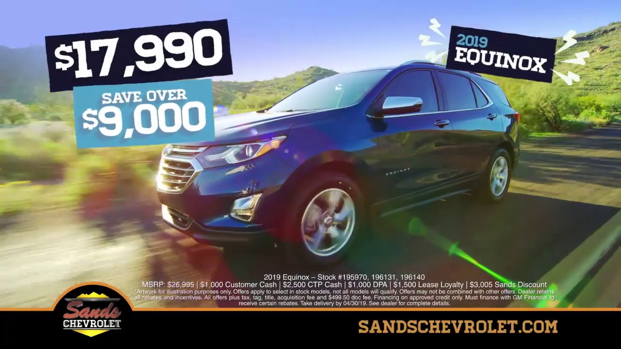 Trax And Equinox Suv Specials In Arizona At Sands Chevrolet