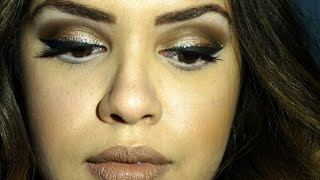 Revlon Photoready eye art in Topaz Twinkle & MAC Styled in sepia look/review