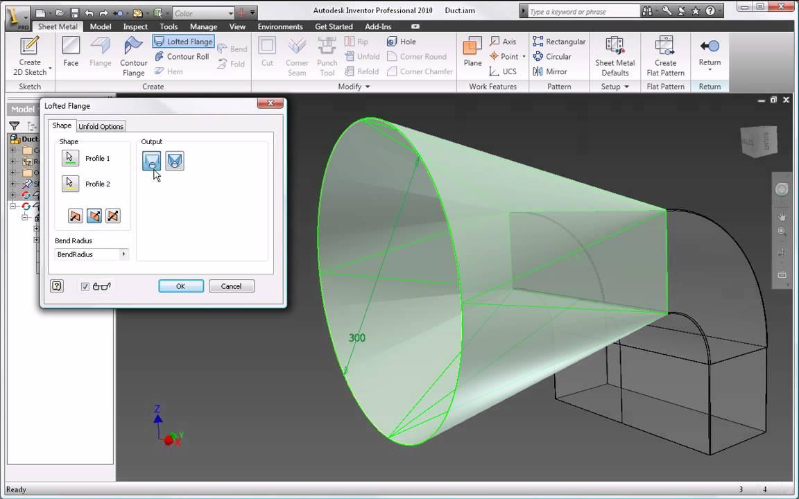 Autodesk Inventor 2010 Sheet Metal Design Youtube