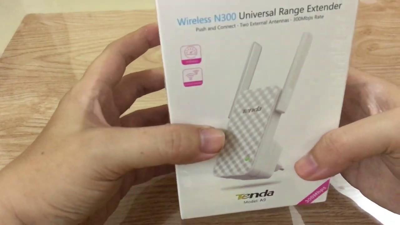 Hướng dẫn cài đặt thiết bị kích sóng Wifi Tenda A9 NGON – BỔ – RẺ