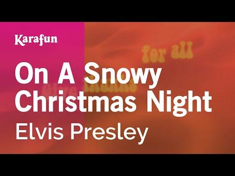 Karaoke On A Snowy Christmas Night - Elvis Presley *