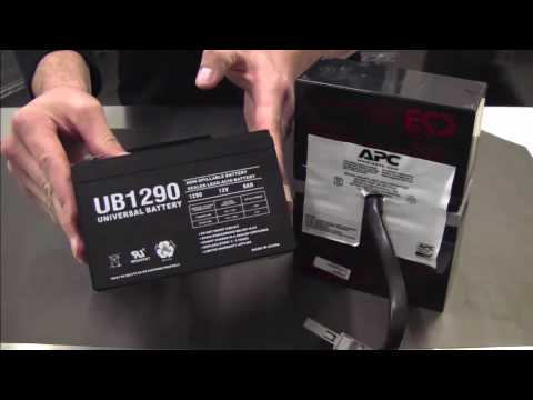 hqdefault battery replacement tutorial for apc rbc cartridge 32 youtube rbc57 wiring diagram at gsmportal.co