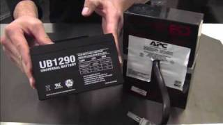 Battery Replacement Tutorial for APC RBC Cartridge #32(The is a tutorial on how to replace the batteries to the APC RBC Battery Cartridge #32 using 2 12V 9Ah batteries from BatteriesInAFlash.com. This can be done ..., 2010-03-13T03:12:31.000Z)