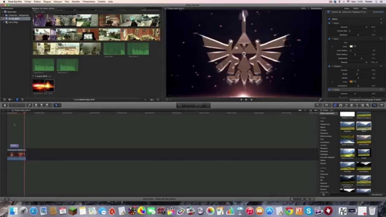 Final Cut Intro Templates  single window infinite creativity