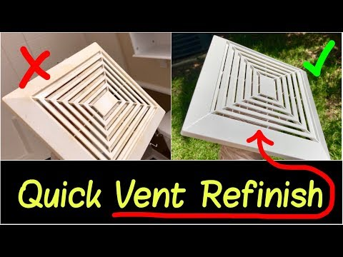 ✅How to Refinish Bathroom Fan Vent | How to Remove Exhaust Fan Cover to Refinish & Reinstall Review