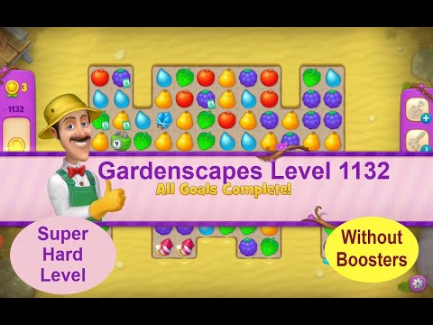 Gardenscapes Level 1132 - No Boosters