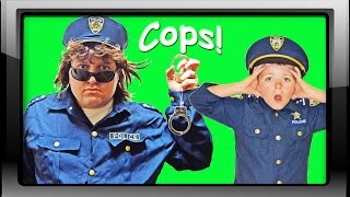 New Cop featuring Sketchy Mechanic vs Ryan Police boys funny kids hero video