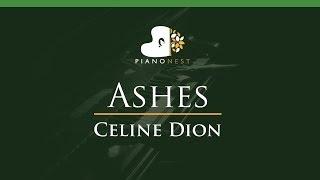 Celine Dion - Ashes - LOWER Key (Piano Karaoke / Sing Along)