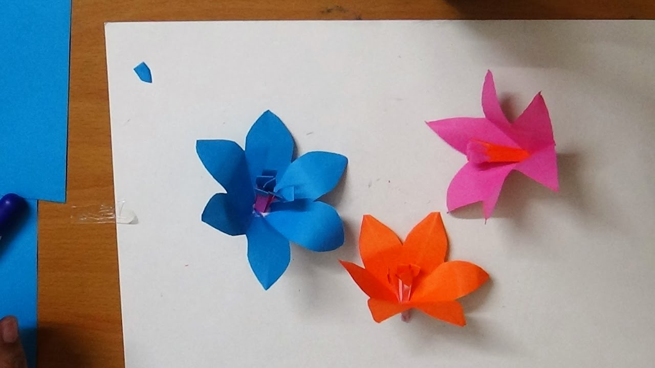Origami simple flowers images flower decoration ideas how to make an origami simple flower by art guru youtube how to make an origami mightylinksfo