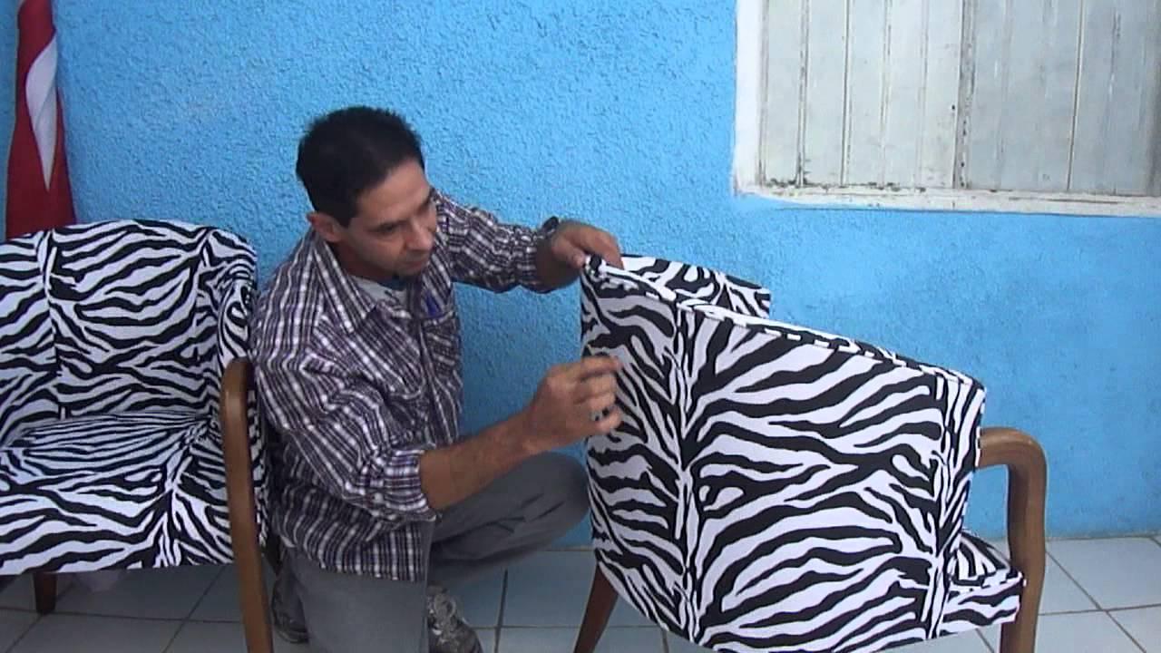 LCDECORAÇÕES TAPEÇARIA, poltrona tecido zebrado - YouTube