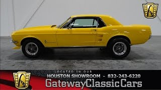 1967 Ford Mustang -Gateway Classic Cars of Houston -Stock 223 HOU